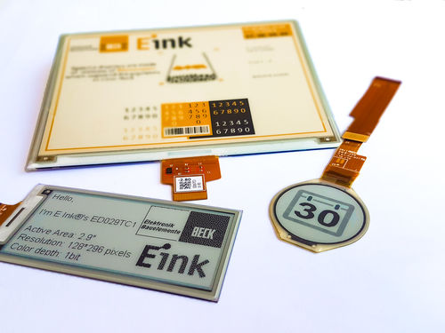 E Ink: Active matrix EPDs